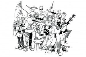 RCR in Kudzu, drawing by Doug Marlette